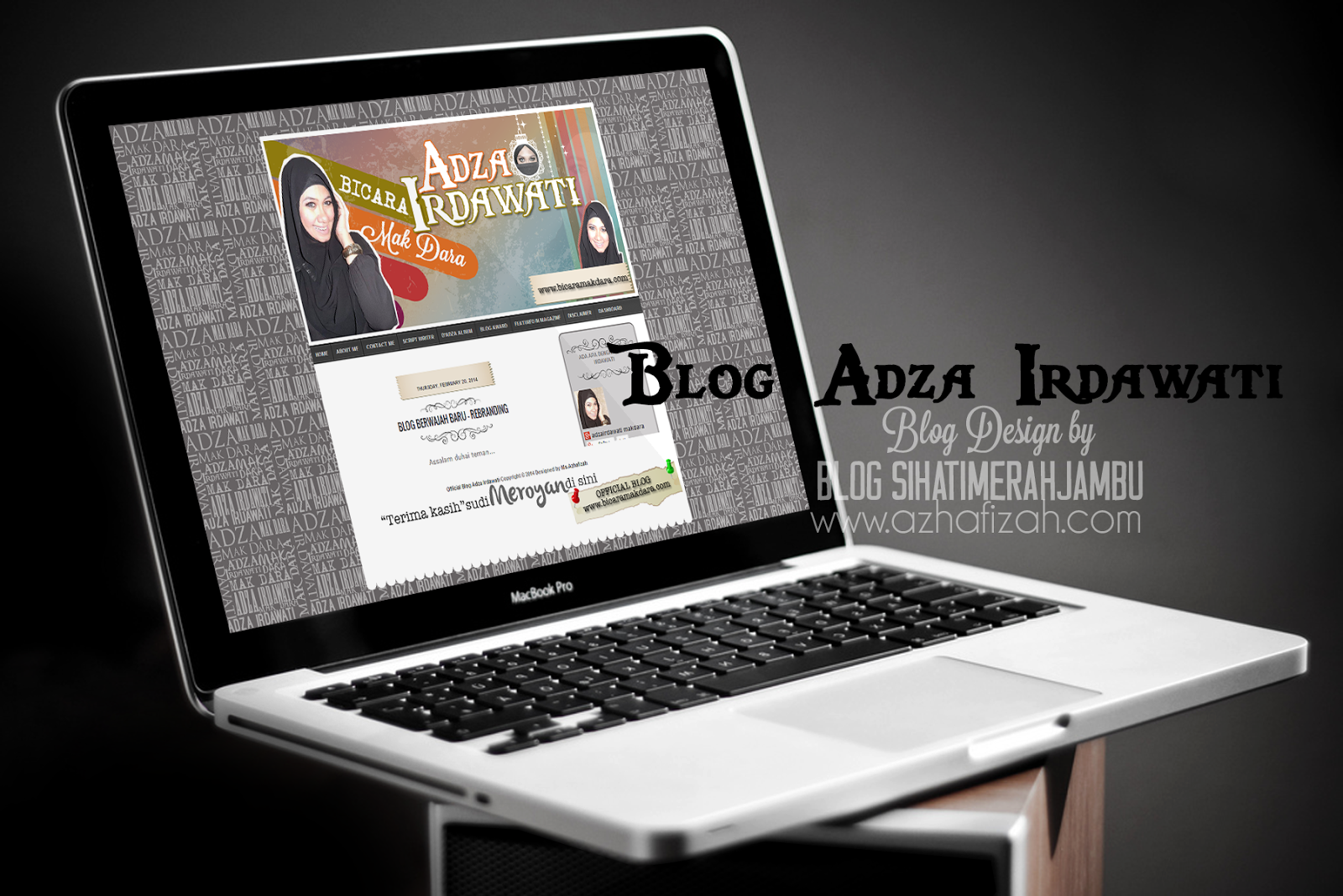 Artwork Design Full Template Blog Adza Irdawati a k a Mak Dara