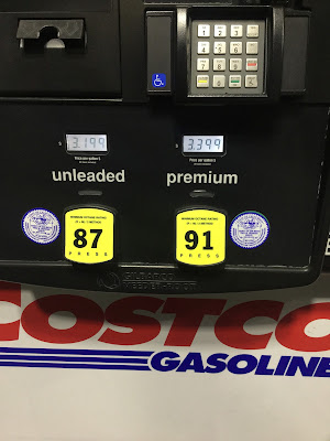 Costco gas for Mar. 4, 2015 at Redwood City, CA