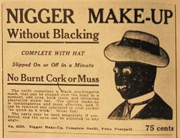 Taking the meaning of racism too far. - Page 3 Minstrel%2Bblackface-makeup-1