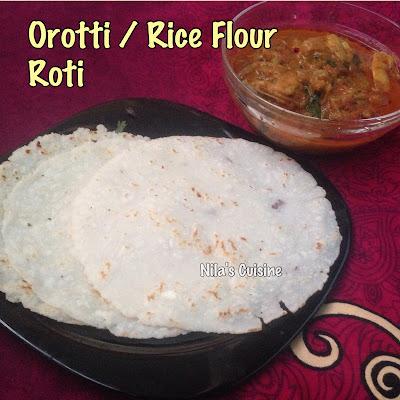 Orotti / Rice Flour Roti  / Rice Pathiri