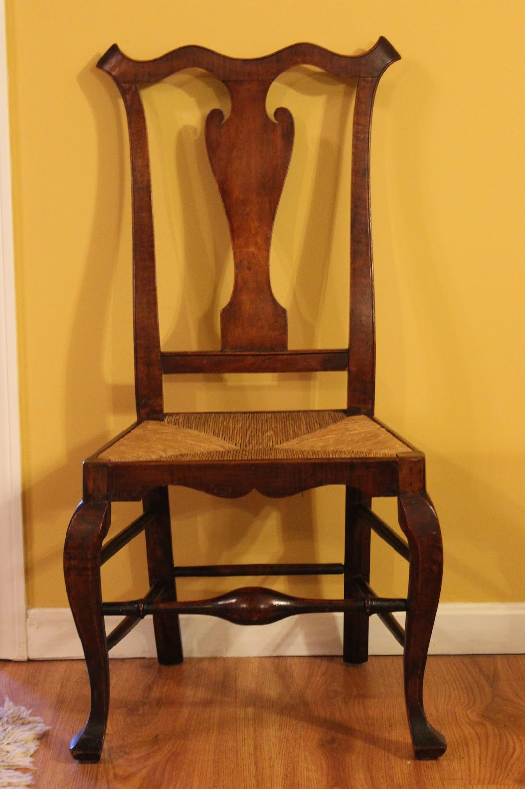 18th Century Pennsylvania Side Chair Rush Seat