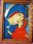 Sf. Ana și Fecioara Maria - Icoană pe sticlă 2013