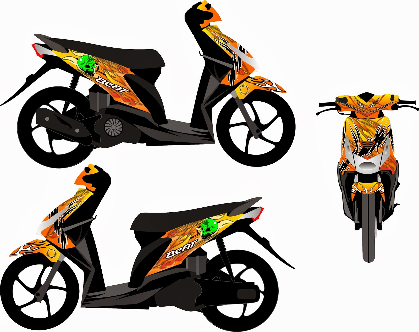 sablon, digital printing, branding motor: racing concept