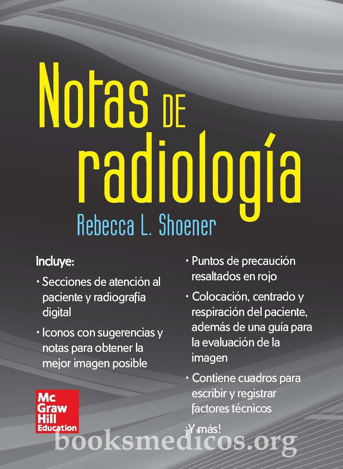 Notas de Radiología Shoener | booksmedicos