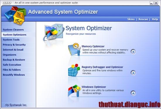 Download Advanced System Optimizer v3.9.2727.166 Full key – Phần mềm tối ưu máy tính