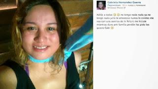 Mexicana anunció su muerte en Facebook y se ahorca