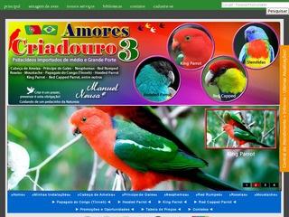 - Cabeça de Ameixa - Principe de Gales - Neophemas - Red Rumped - Roselas - Moustache - Papagaio do Congo (Tinneh) - Hooded Parrot - King Parrot - Red Capped Parrot