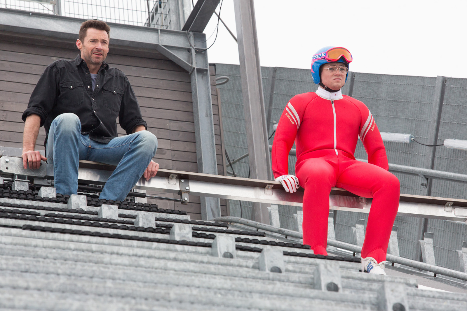 Hugh Jackman and Taron Egerton - Eddie The Eagle