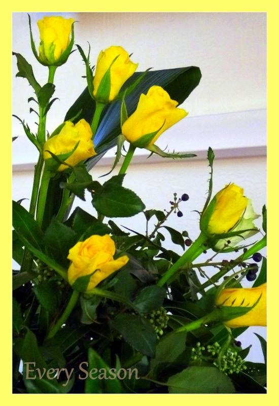 Nice Yellow Color Roses In Green Plant