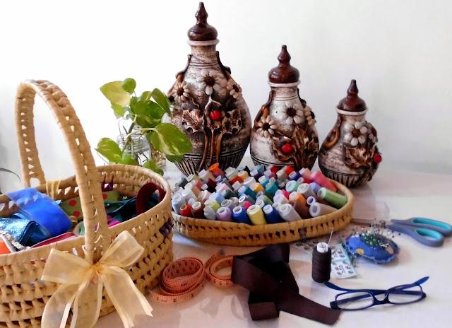 Adornos de jarrones de barro, jarrones artesanales, jarrones rústicos