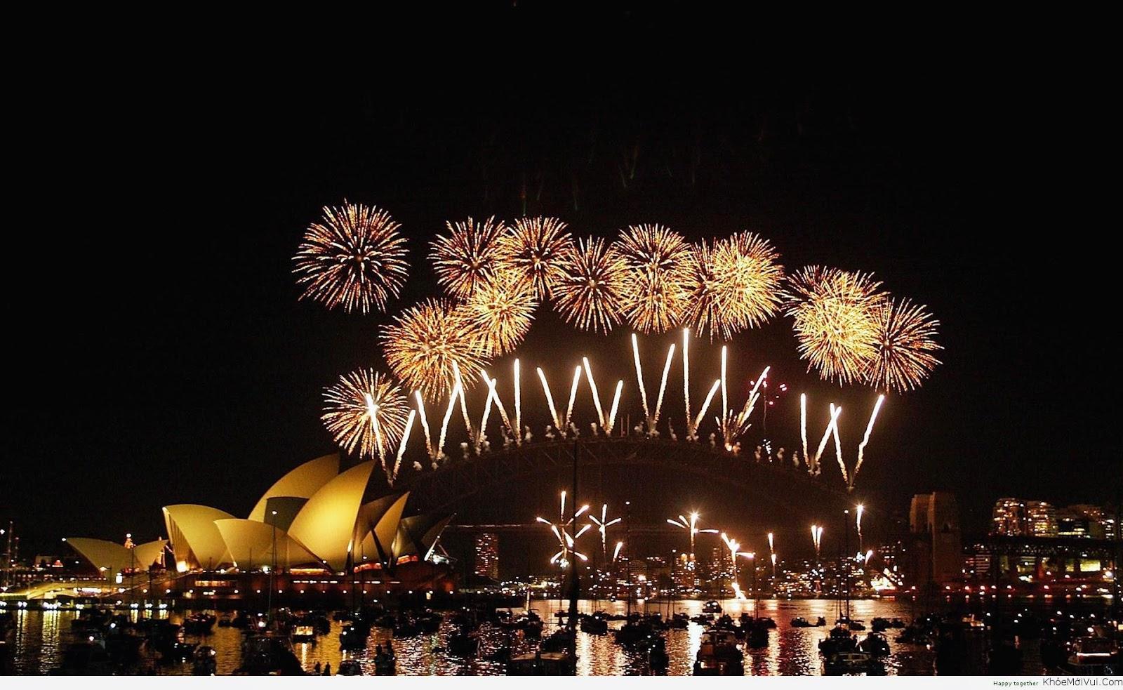 ảnh pháo hoa đón năm mới đẹp