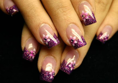 Acrylic Nail Designs 2014 Tumblr Step By For Short Nails With Rhinestones Bows Summber Ideas