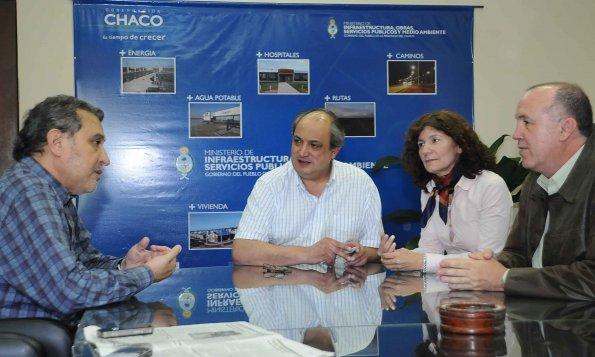 Arq. Lagraña junto a los Ministros Judis y Bogado