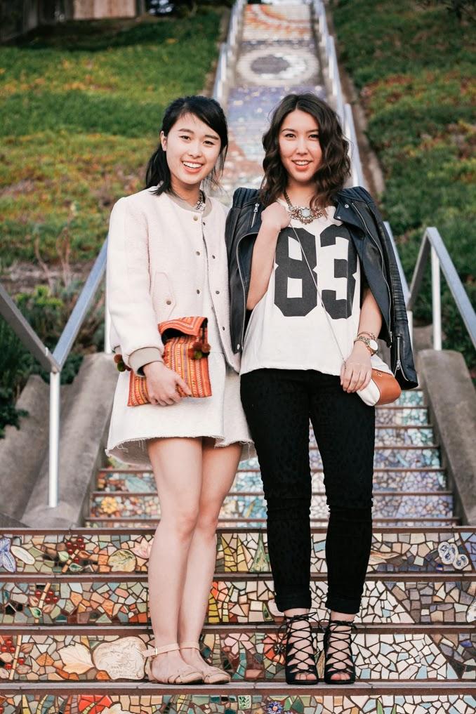 readytwowear, san francisco fashion blog, bay area style, athletic chic, sf street style, san francisco mosaic stairs