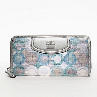 Ready Stock Coach Wallet 47748 BlueGreen Multi