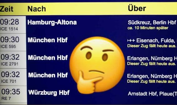 Erfurter Hauptbahnhof: Abfahrt / Ankunft (Live-Anzeige)