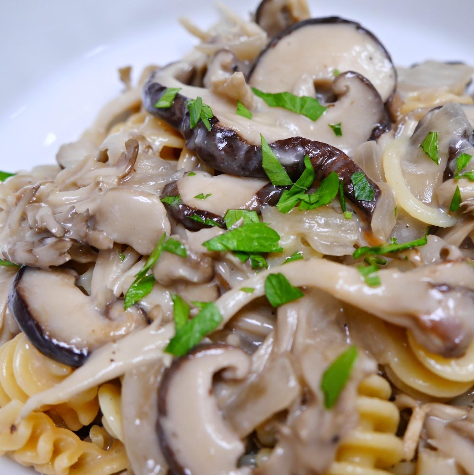 Foods For Long Life: Shiitake And Maitake Mushroom Stroganoff An ...