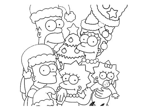Dibujos Animados Para Colorear Simpsons Para Colorear