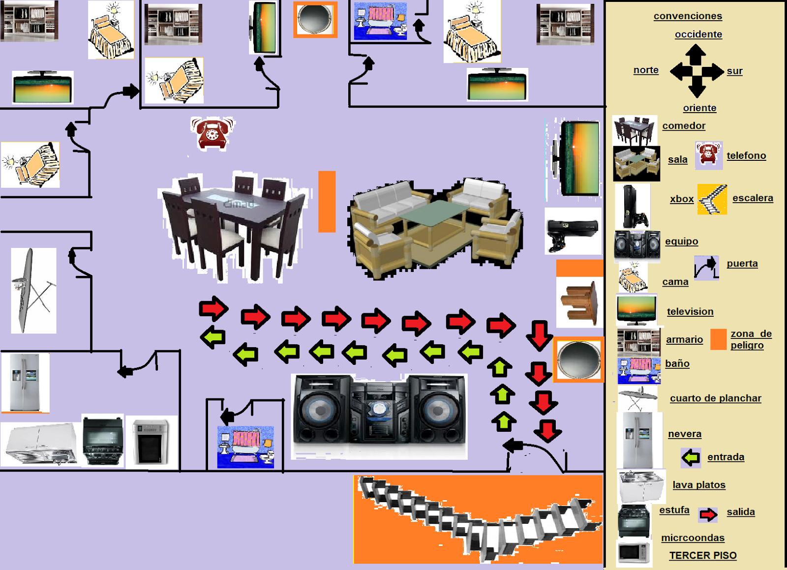 primeros auxilios y prevención de desastres: MAPA DE SOACHA Y MI CASA