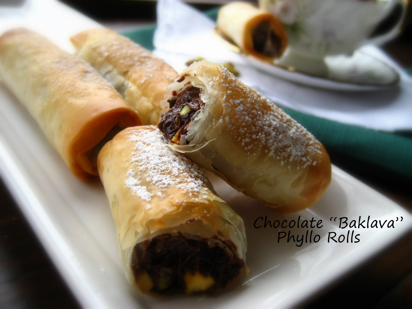Home Cooking In Montana: Chocolate-Pistachio Phyllo Rolls ...