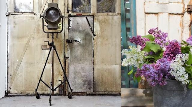 estilo industrial y lilas