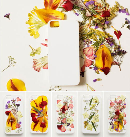 Carcasa cover movil flores secas