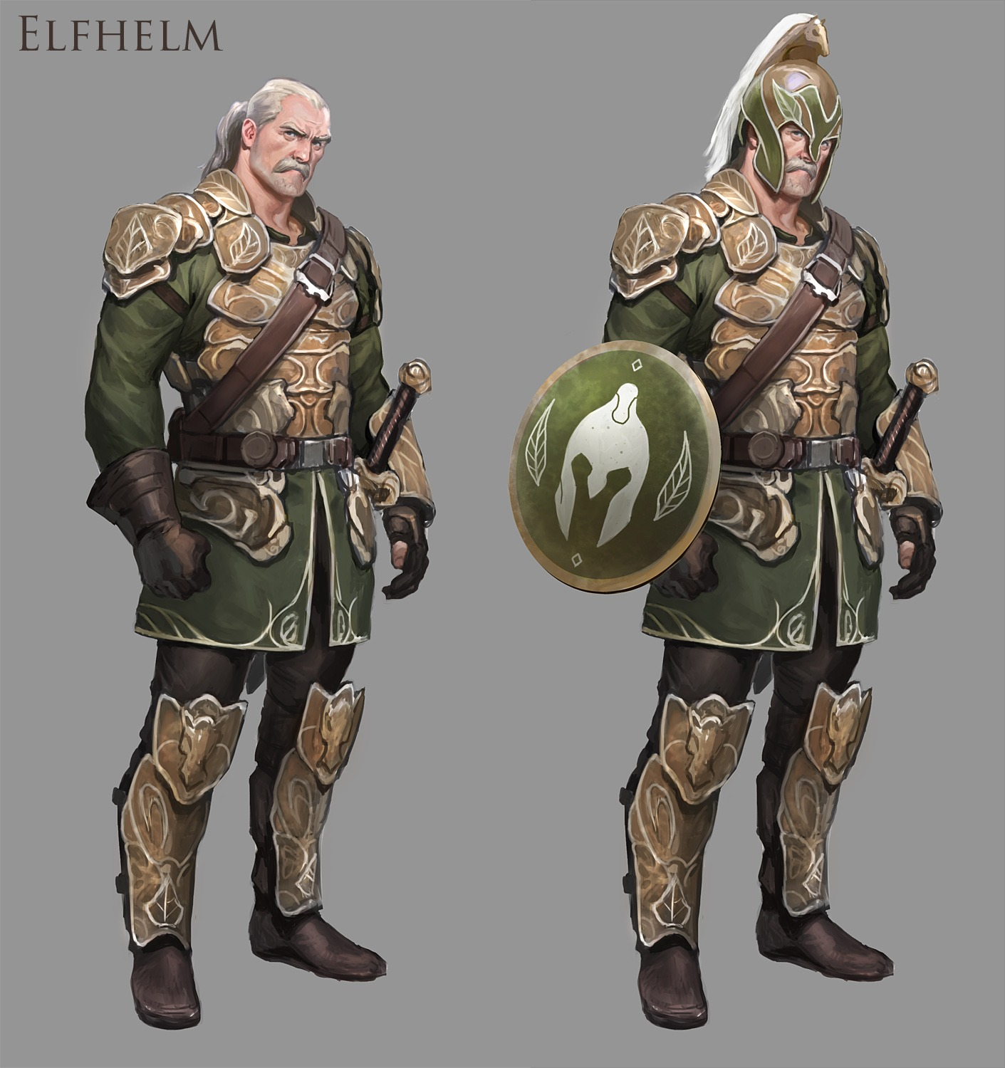 Wes burt mmo lord of the rings concept art for Rohan design