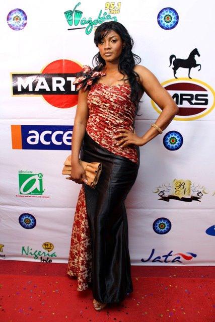 Dammydiary Omotola Rocks Vendrika 39 S Dress At Africa International Film Festival Styled By Kic