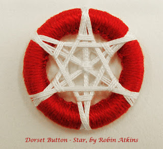 Dorset button, star pattern designed by Robin Atkins