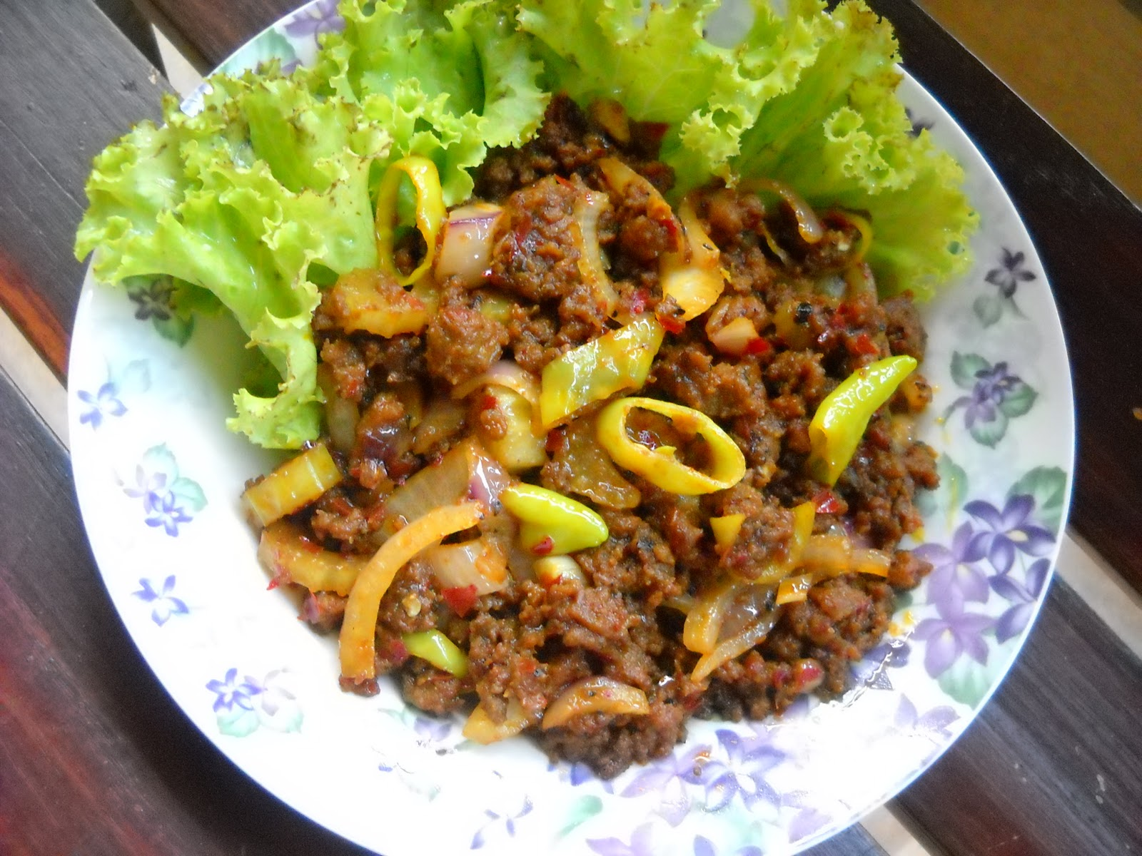 ..Cooking with soul.....: DAGING CINCANG GORENG