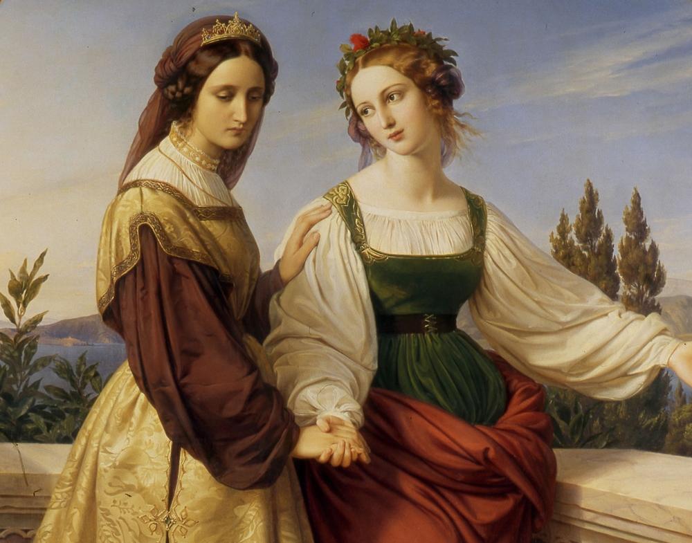 Beautiful Paintings Karl Ferdinand Sohn The Two Leonores