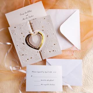 unique and elegant hearts embossed affordable folded wedding invitation kits