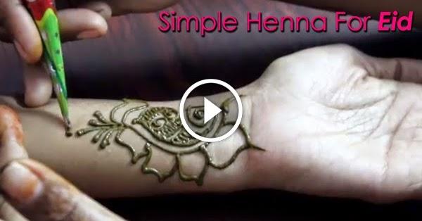 simple amp cute arabic mehendi design for eid   video
