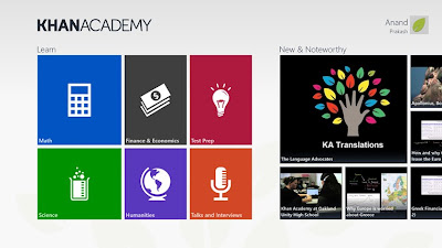 Khan Academy - 7 Best Picked Apps for Windows 8 2012