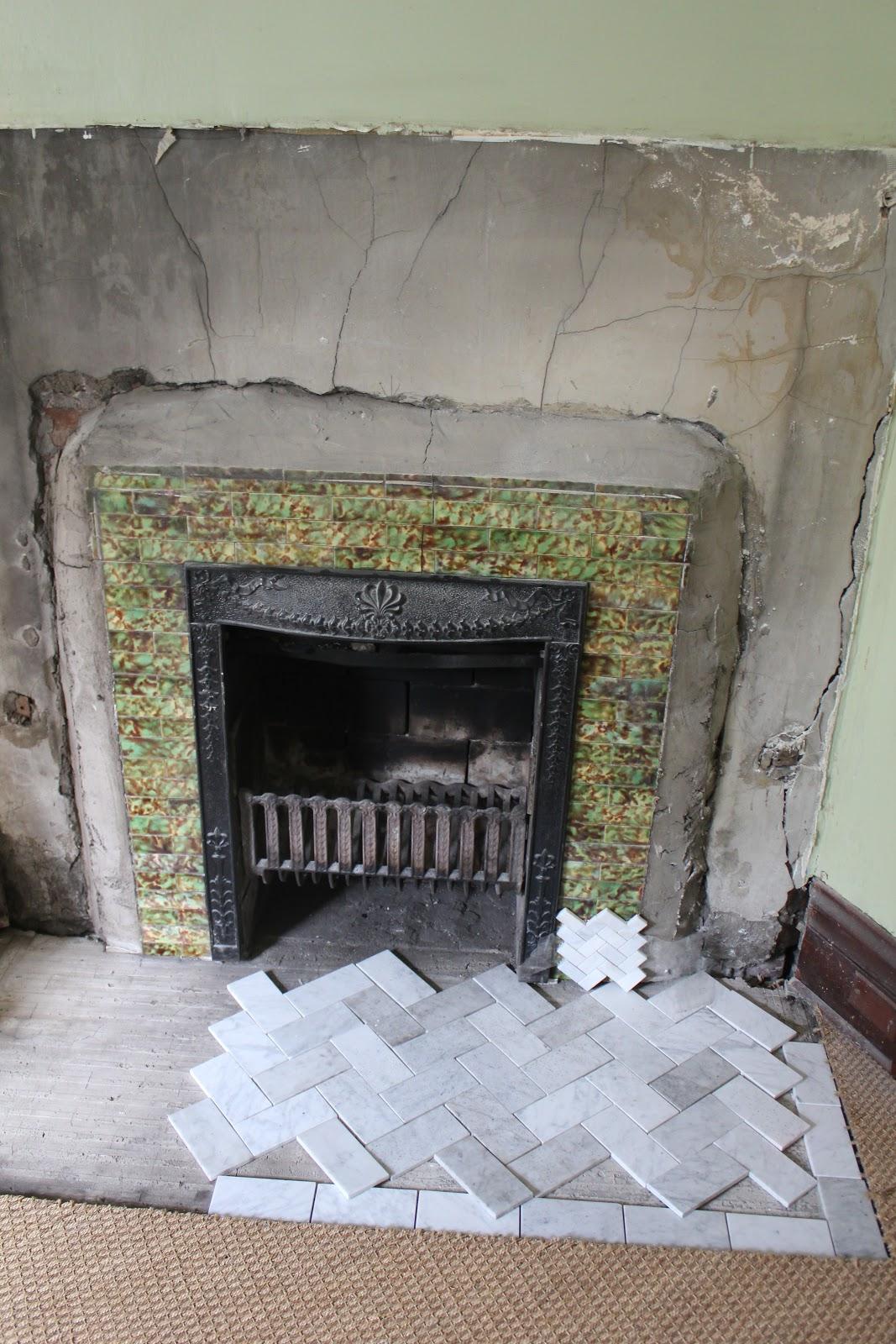 back on festive road fireplace renovation