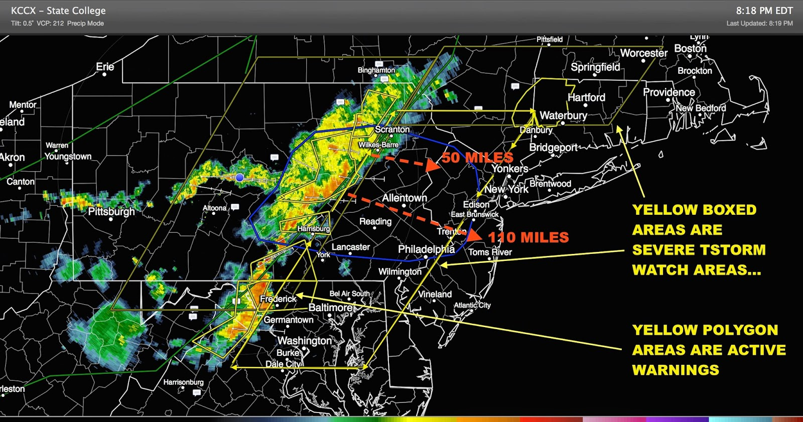 of nj with warnings likely by 9 00pm stay tuned as we cover the first of what is likely to be many severe thunderstorms over the next 48 72 hours