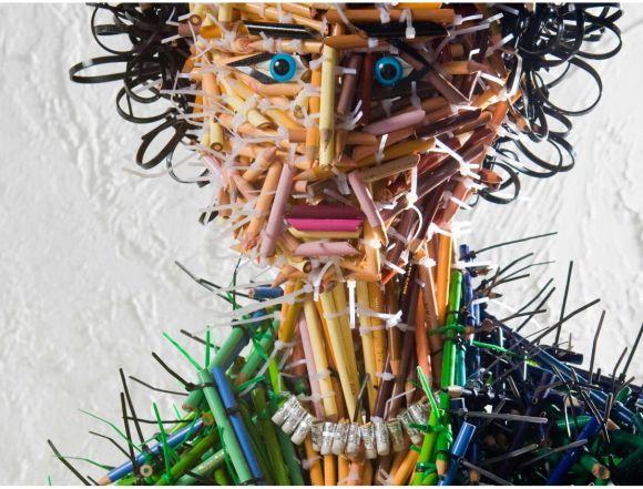 Federico Uribe esculturas lápis Mãe - detalhe