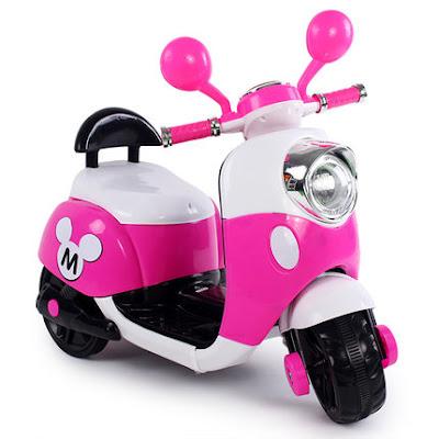 Xe máy điện trẻ em - Kiểu Vespa có tựa lưng