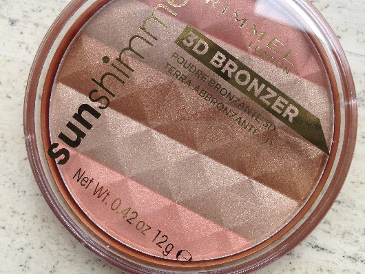 Rimmel London Sunshimmer 3D bronzer.