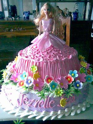 Sammi s Receipes: Barbie cake design for young girls