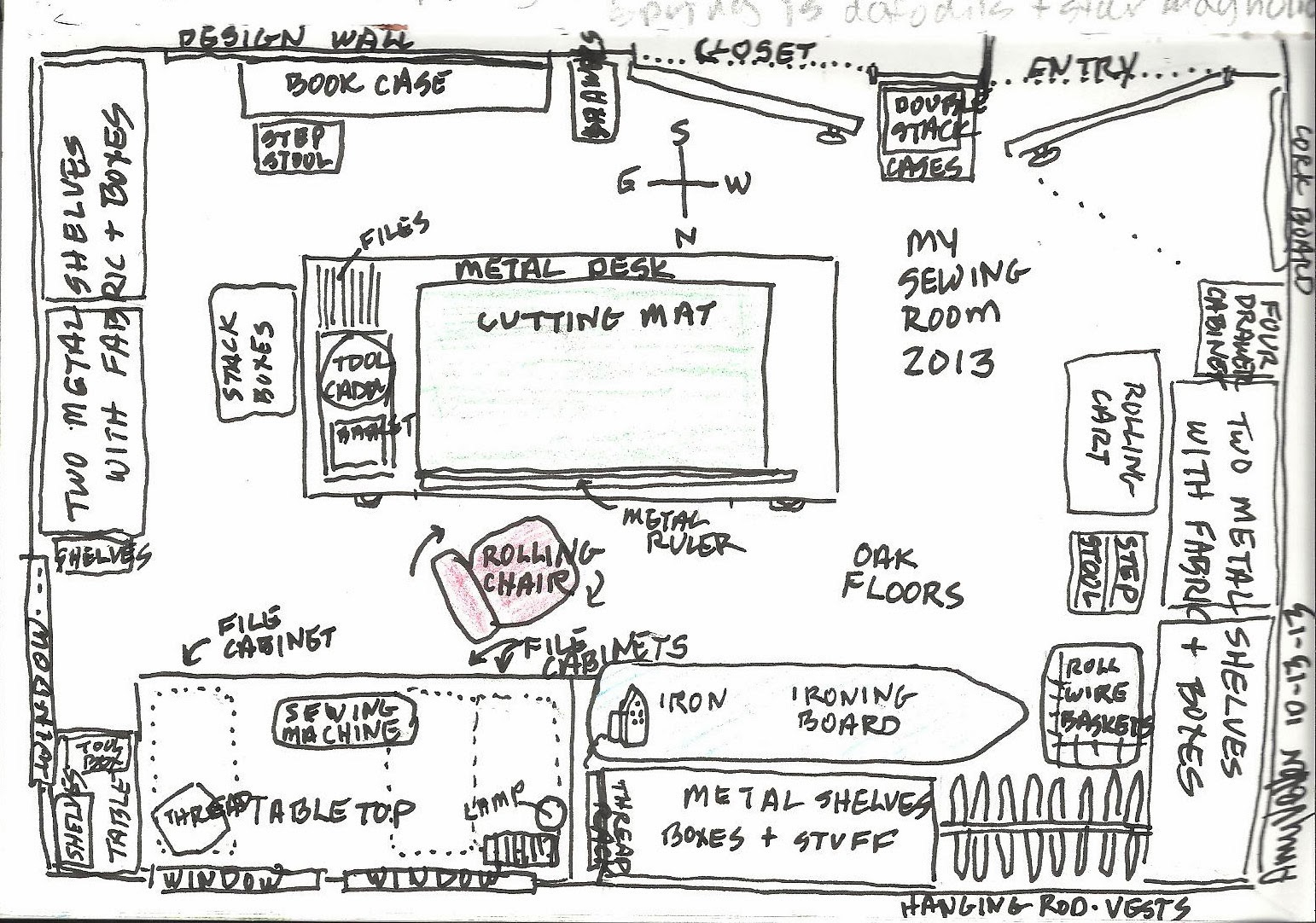 Amys art journal my sewing room diagram my sewing room diagram malvernweather Gallery