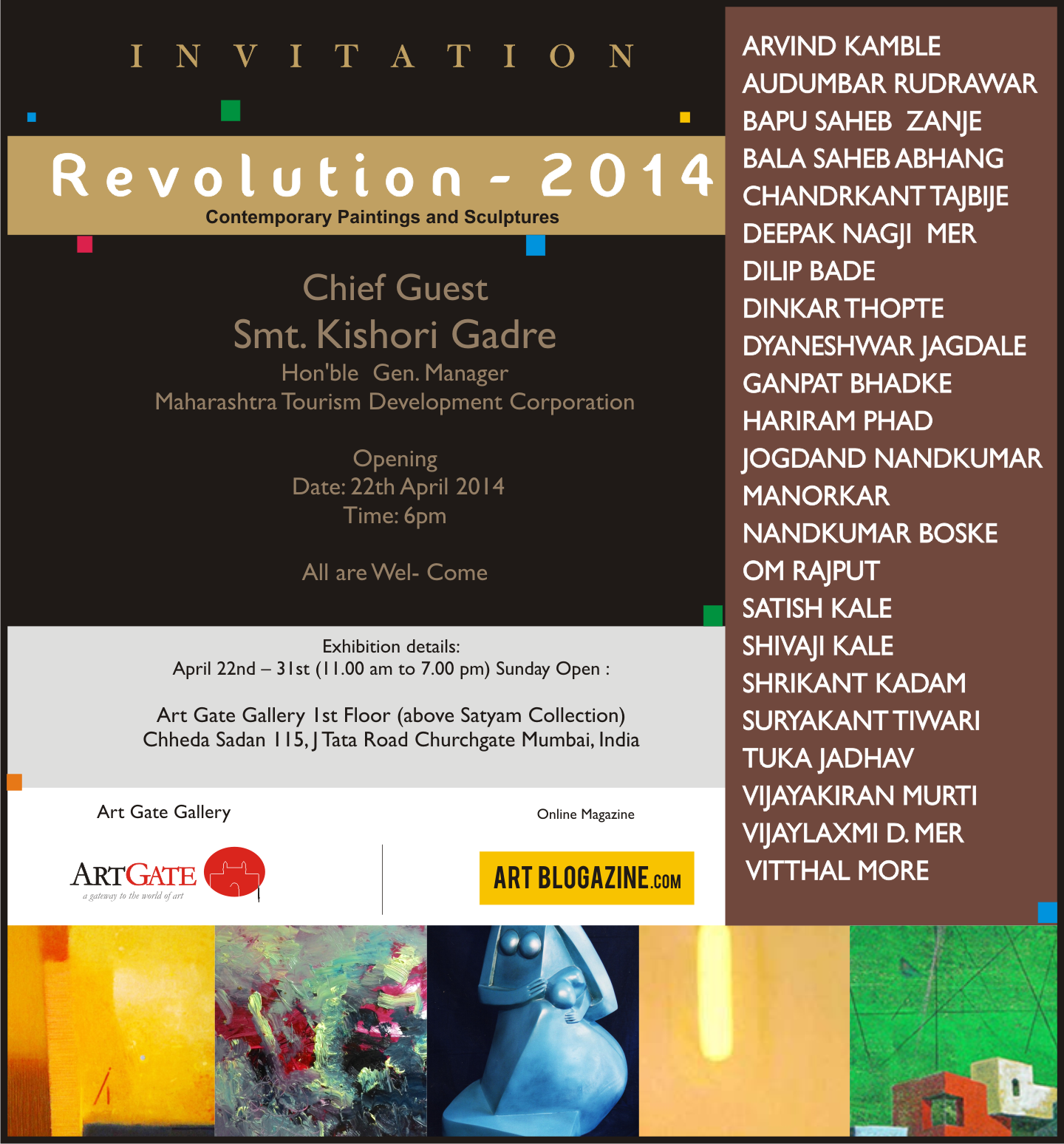 Revolution Art-  Artists Group show - 2014 - ARTIST+CURATOR show  by Tuka Jadhav