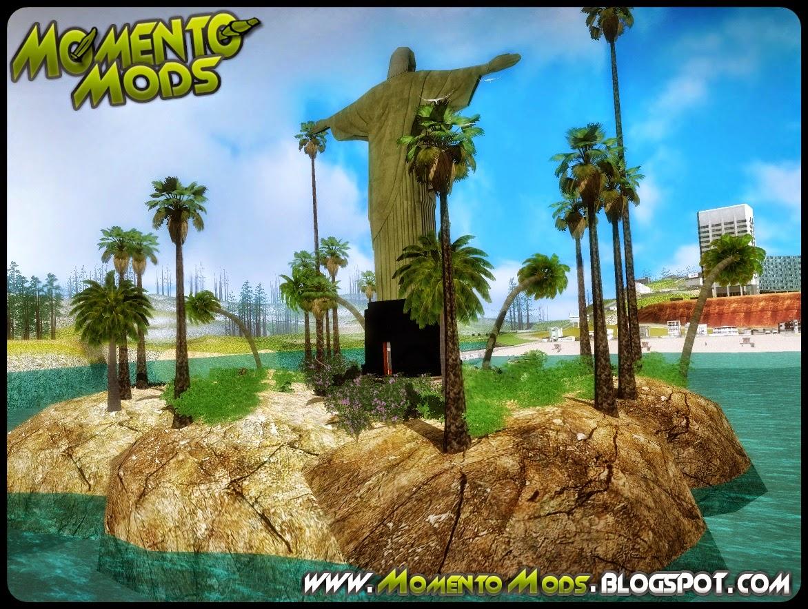 GTA SA - Mod Cristo Redentor Em Uma Ilha Em Santa Maria
