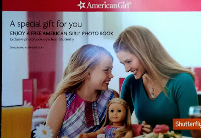 American Girl photo book by Shutterfly, free with purchase on AmericanGirl.com