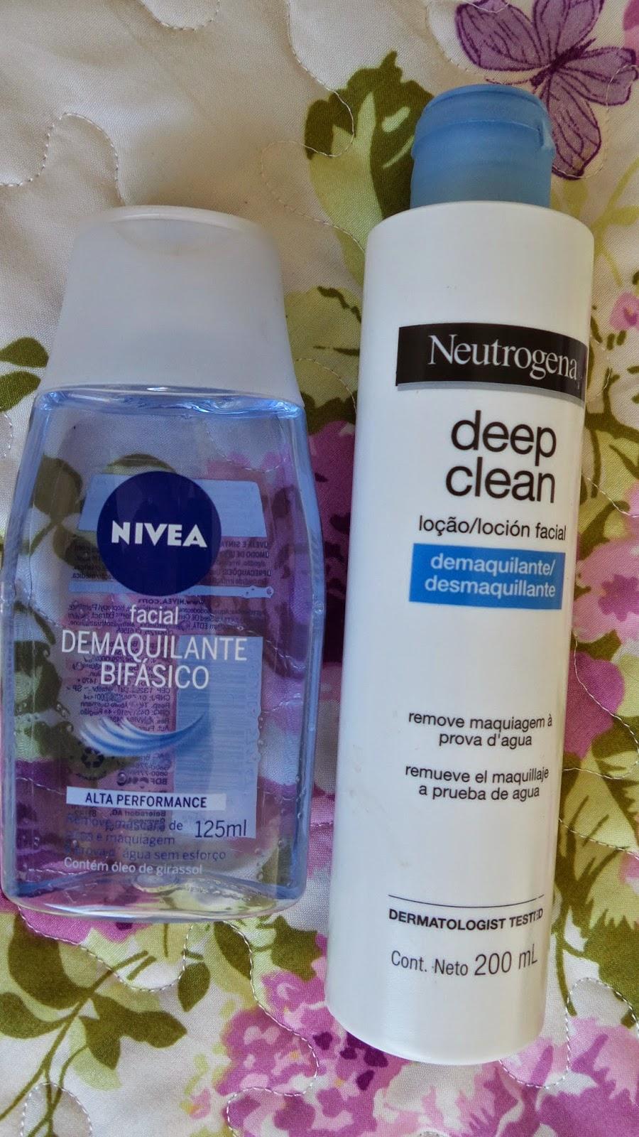 Demaquilantes  Nivea& Neutrogena