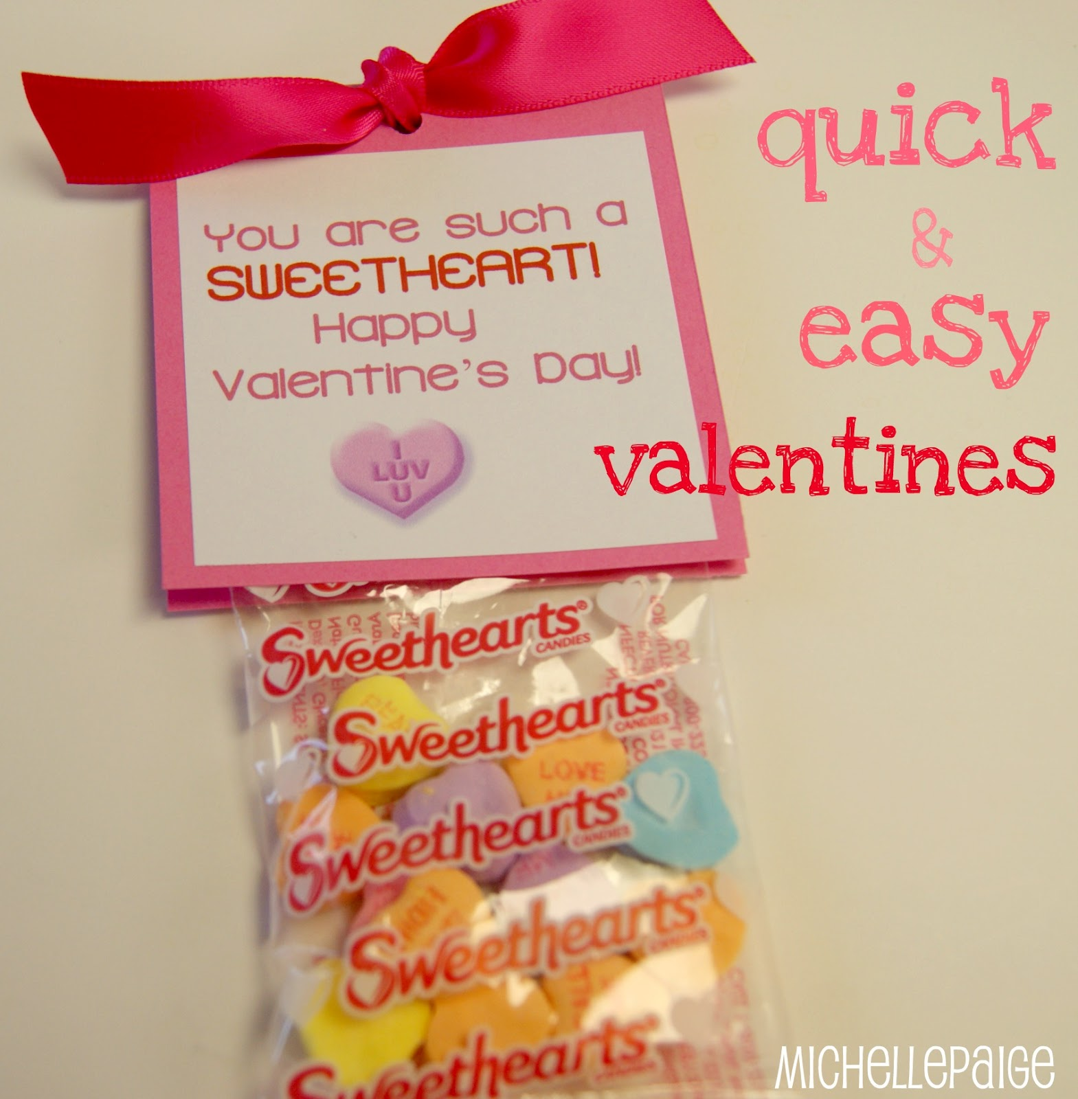 michelle paige blogs  quick sweetheart valentines in 5 steps