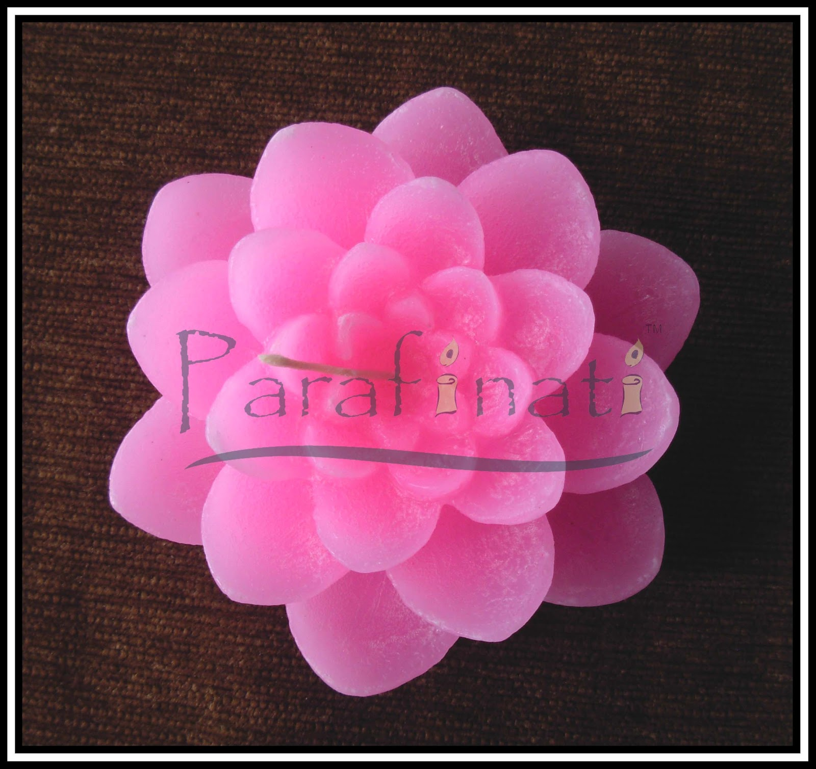Parafinati Candles National Flower Lotus Fower Candle