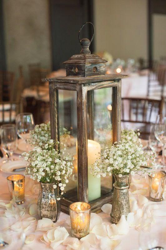 Resultado de imagen de centros de mesa bodas
