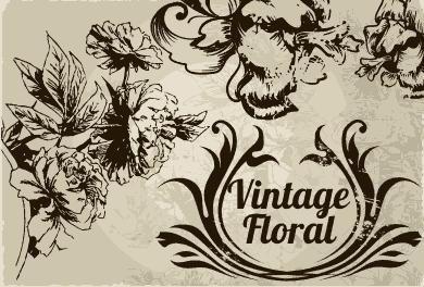 Vintage Floral cdr vector