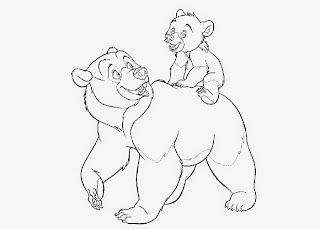 brother bear 2 coloring pages - photo#32